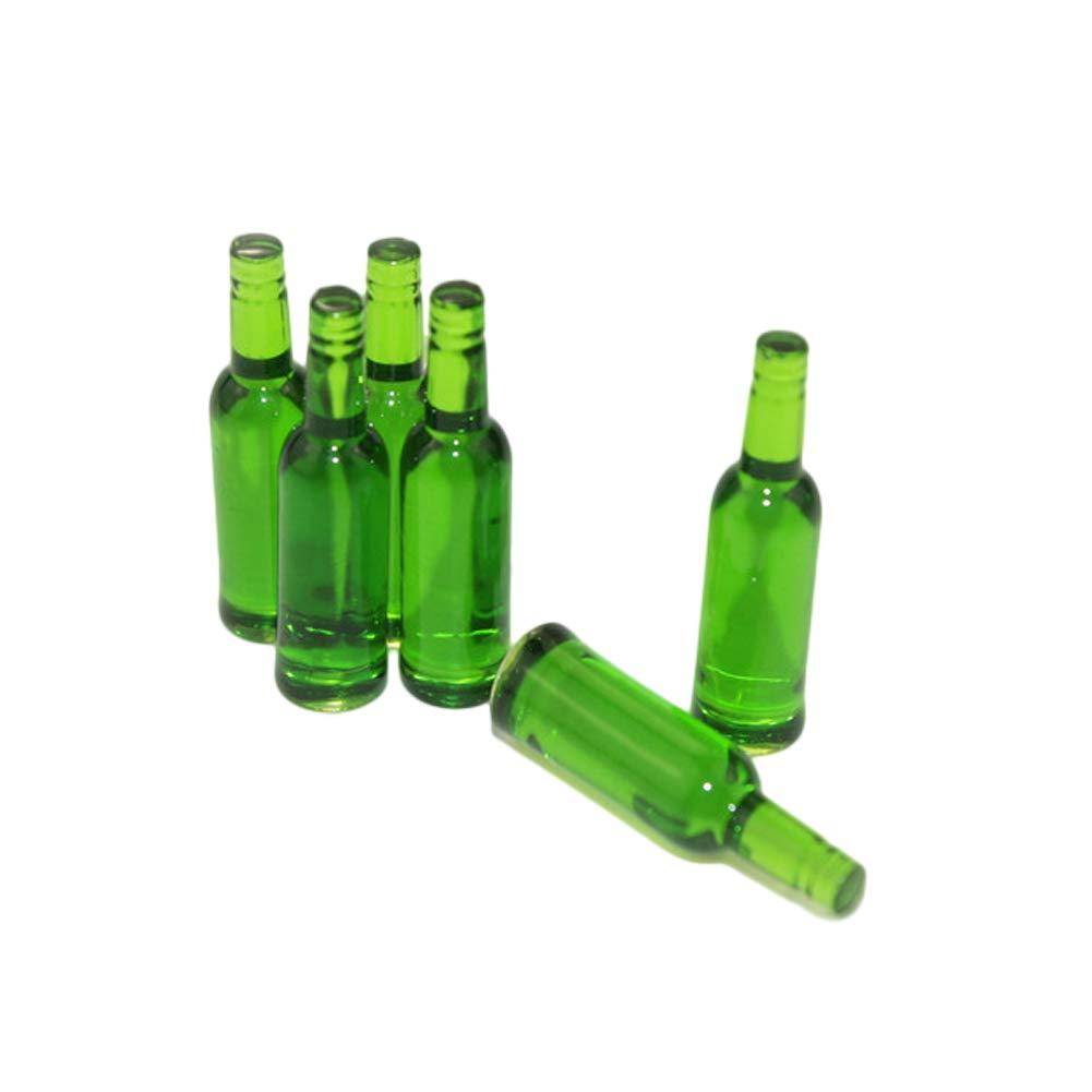 Dollhouse Miniature Plastic Italian Wine Bottle