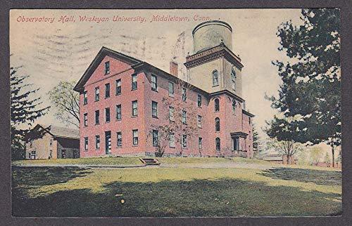 Observatory Hall Wesleyan University Middletown CT postcard 1909