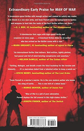 Amazon Com Man Of War An Eric Steele Novel 9780062668783 Sean