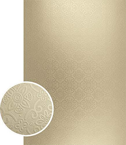 Couture Creations Mirror Foil Board A4 10/Pkg-Gold Damask Matte ()