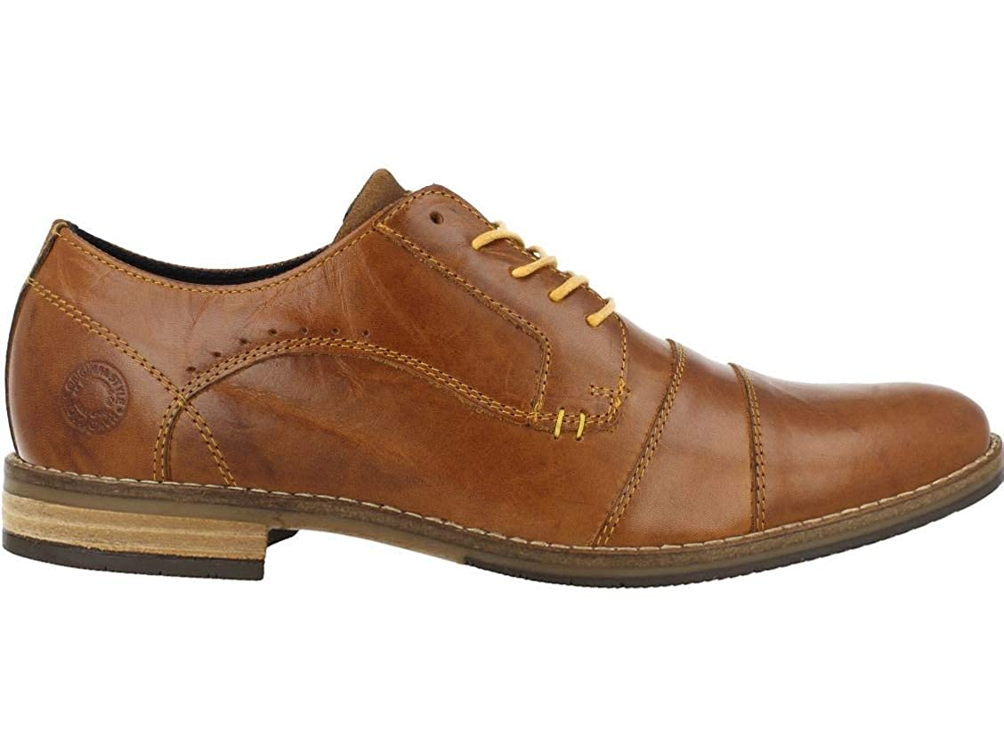 Cognac Bullboxer män Lace -Up Flats 773K26505, män mäne 180; 180; 180; Affärsskor,Suit skor,Dress skor  fritid