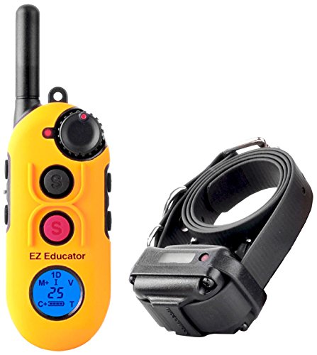 Educator EZ-900 Easy 1/2 Mile E-Collar Remote Dog Training Collar With Vibration, Tapping Sensation and Pavlovian