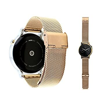 Dokpav® Banda Pulsera Correa de Reloj Inteligente Smartwatch para MOTO 360 II- Dorado, 20mm
