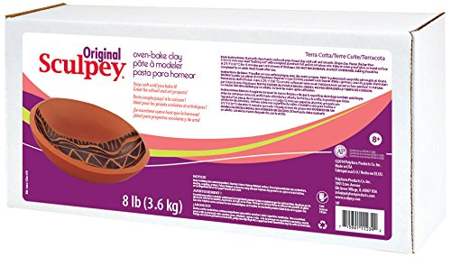 - Sculpey Original Art Clay, 8-Pound, Terra Cotta (S8T)