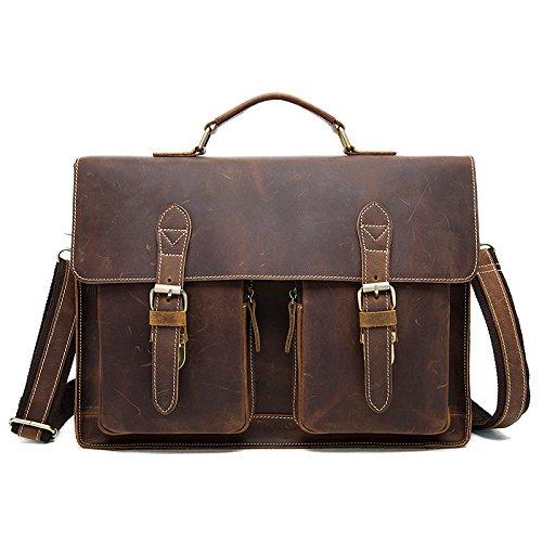 Ranzen, Männer - Tasche, Retro - Umhängetasche brown