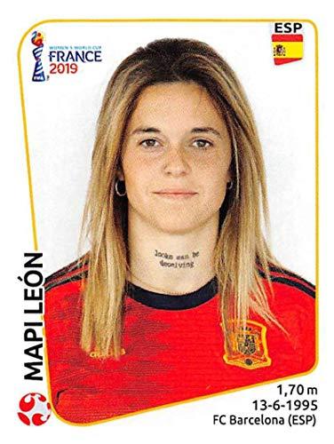 144 Stickers - 2019 Panini FIFA Women's World Cup France Sticker #144 Mapi Leon Spain Mini (Small) Sticker Trading Card