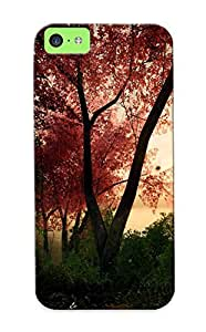 2f081832268 Case Cover Landscapes Nature Trees Forest Digital Artrender Compatible With Iphone 5c Protective Case