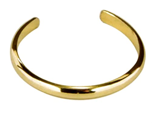 14k Gold Filled Plain Band Adjustable Midi Above the Knuckle Toe Ring One  Size Fits All Most