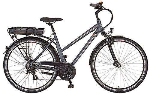 Prophete Damen Elektrofahrrad E-Bike Alu-Trekking 28 Zoll Navigator 6.4, anthrazit matt, 50, 52526-0111