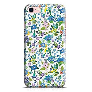 Loud Universe iPhone 8 Case White Fall Summer Floral Flower Pattern Women Slim Profile Light weight Wrap Around iPhone 8 Cover