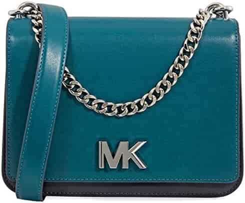 118500282ca9 Michael Kors Mott Large Chain Swag Shoulder Bag King Leather - Luxe  Teal Admiral