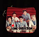 1D One Direction Coin Purse and School ID Holder (Red Stripe/Checker)