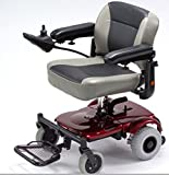 """Merits Health Products - EZ-GO- Travel Power Chair - 18""""W x 15""""D - Red"""
