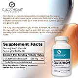 Glutathione Therapies Glutathione Pure 550 Mg Pharmaceutical Grade Skin Health and Brightening Liver Health and Detoxification Super Antioxidant 60 Vegetarian Capsules Discount