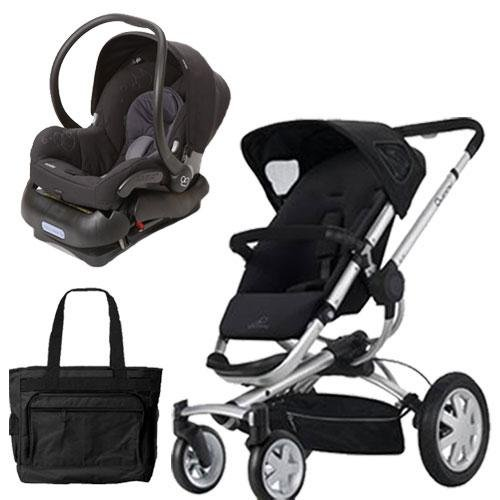 Quinny Buzz 4 Travel System in Black with a Diaper (Quinny Travel Bag)