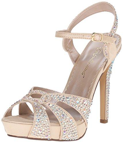 Platform Dress Satin Champagne Sandal Fabulicious Lumina23 Chasa Women's wqnAgxpF