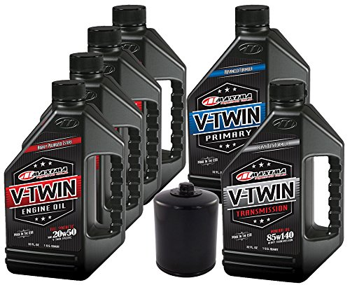 MaximaHiflofiltro VTTOCK14 Complete Engine Oil Change Kit for V-Twin Full Synthetic Harley Davidson Twin Cam, 6 Quart ()