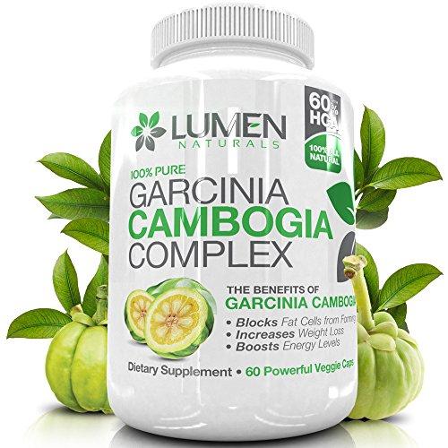 """Pur Garcinia Cambogia Extrait avec Chrome - Obtenez le """"plus rapide Fat Buster"""" - sans perte BONUS de poids eBook (valeur de 35 $) - Complément alimentaire 100% naturelle à brûler les graisses et supprimer l'appétit - acide hydroxycitrique (60% HCA) des c"""