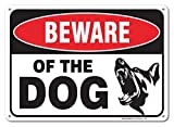 Beware Of Dog Sign By SigoSigns- Large 7 x 10 Inch Aluminum Warning Dog Sign - USA Made Of Rust...