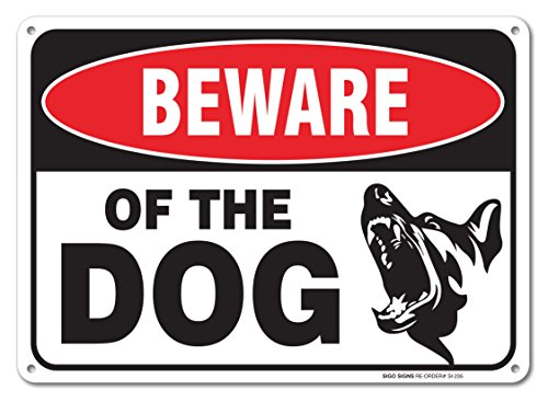 Beware SigoSigns Large Aluminum Warning