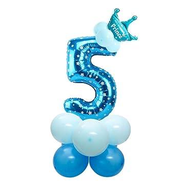 QUQUET I Am Five Kraft Paper Banner 5 años Cumpleaños Niño ...