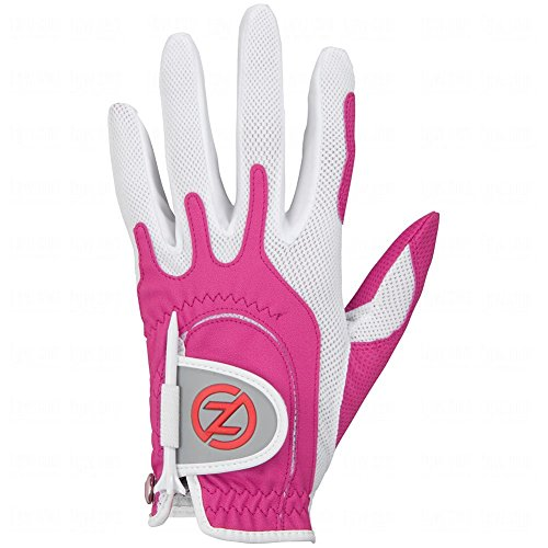 Zero Friction Womens Golf Gloves, Left Hand, One Size, Pink