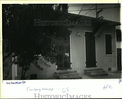 1982 Press Photo Property at 1410 Dauphine Street - - Press Dauphine