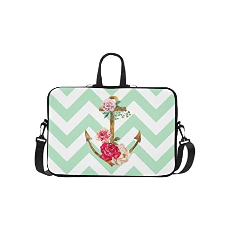 b60048ef1884 Amazon.com: InterestPrint Fashion Chevron Zig Zag Nautical Anchor ...