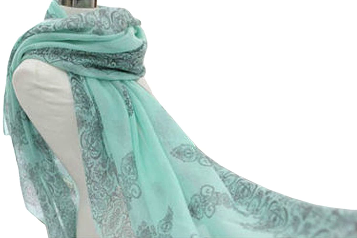 Green Women Long Print Cotton Scarf Wrap Ladies Shawl Girls Large Scarves