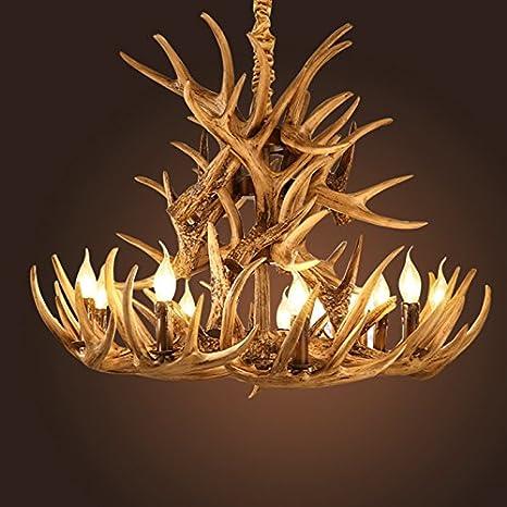 Amberlight 9 lights brownwhite resin antlers chandelier light amberlight 9 lights brownwhite resin antlers chandelier light dining room pendant lamp bar aloadofball Choice Image