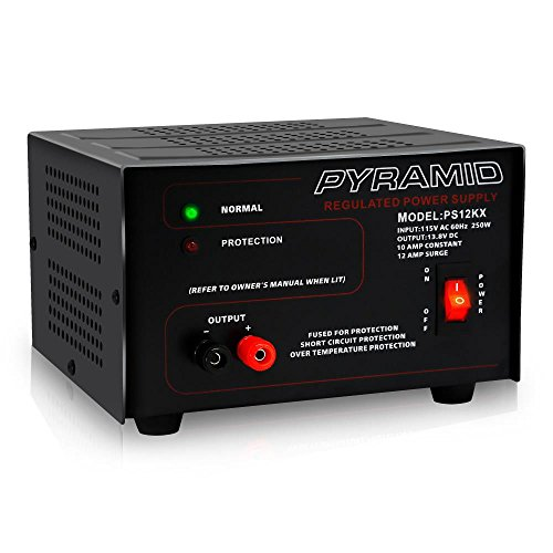 Price comparison product image Pyramid Bench Power Supply   AC-to-DC Power Converter   10 Amp Power Supply (PS12KX)