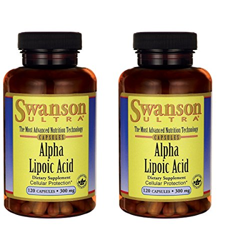 Swanson Alpha Lipoic Acid 300 mg 120 Caps 2 Pack by Swanson