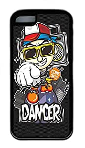 iPhone 5c Cases - Cheap And Beautiful Summer TPU Black Cases Personalized Design Black Cartoon2