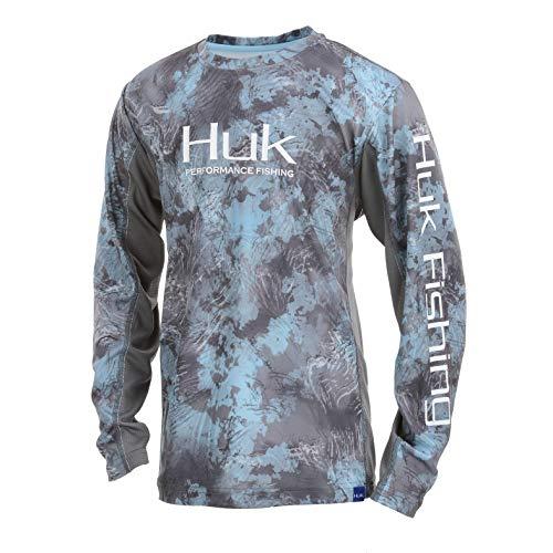 Huk Youth  Icon X Camo Long Sleeve Shirt, SubPhantis Glacier, Youth X-Large
