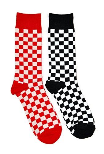 Mens Novelty Trouser Socks 2 Pair Bundle FineFit Themed Pattern ()