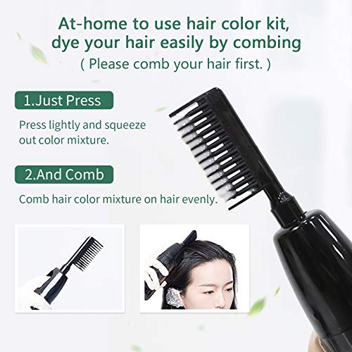 HJL Silver Hair Dye Permanent Hair Color Ammonia Free with Comb Applicator Easy Use Hair Coloring Cream Kit