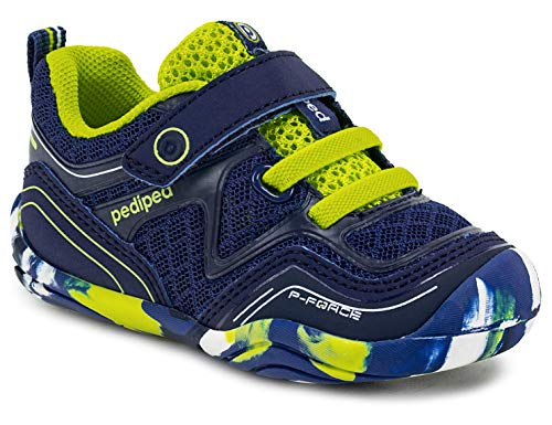 (pediped Grip 'N Go Force Indigo Lime (Toddler/Little Kid) )