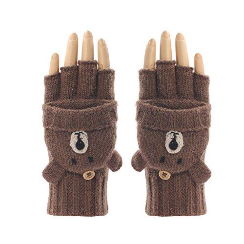 レディース冬暖かいかわいい手袋/ストレッチニット手袋/