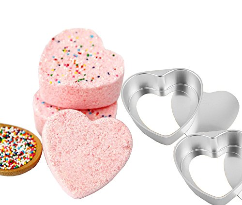 Metal Bath Bomb Can Be Removed Mold Hearts 2 Sets