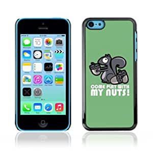 YOYOSHOP [Funny Play With My Nunts Squirrel] Custodia Case Cover per Apple iPhone 5C