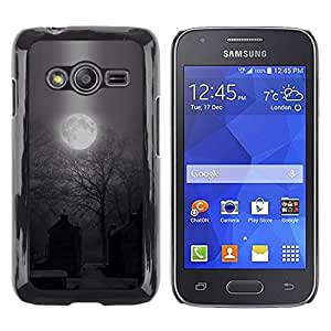 LECELL--Funda protectora / Cubierta / Piel For Samsung Galaxy Ace 4 G313 SM-G313F -- Moon Spooky Graveyard Halloween --