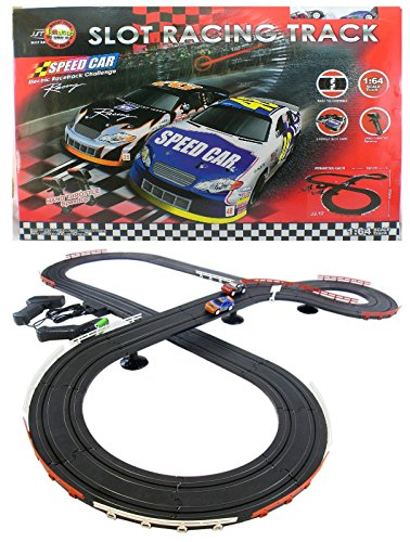 JJ_TOYS Nascar Style Slot Car Track Ho Scale Race Set New And Improved 2018 from JJ_TOYS