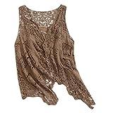 Software : WatFY Womens Blouse Fashion Outerwear Summer Open Stitch Cardigans Girls Crochet Vest Tops(Coffee,Free Size)