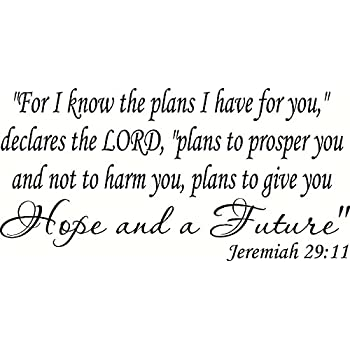 "Amazon.com: Jeremiah 29:11 ""For I know the plans I have ..."