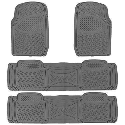 New High Quality Semi Custom Heavy Dutty Gray 4pc Front & Rear Rubber Mats For Car Van Trucks Suvs Set Universal