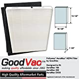 GoodVac Fellowes Non-OEM AeraMax 190 200 DX55 9287101 HEPA Filter with Carbon Odor Filter Pack by
