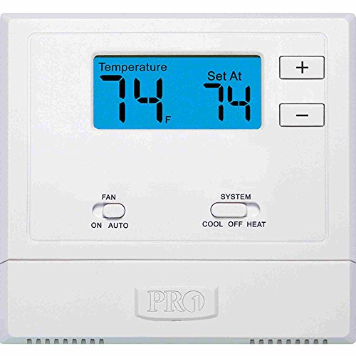 (PRO1 IAQ T601-2 Single-Stage 1 Hot/1 Cold Non-Programmable Thermostat)