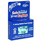Mack's Safe Sound Original Soft Foam Earplugs 10 pair