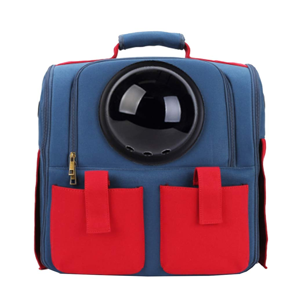 bluee Pet Carrier Bag Large Pet Backpack Breathable Capsule Astronaut Bubble Pet Cat Dog Carrier Waterproof Travel Portable Premium Canvas Backpack Portable Collapsible (color   bluee)
