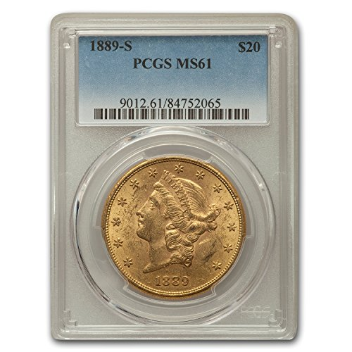 1889 S $20 Liberty Gold Double Eagle MS-61 PCGS G$20 MS-61 PCGS